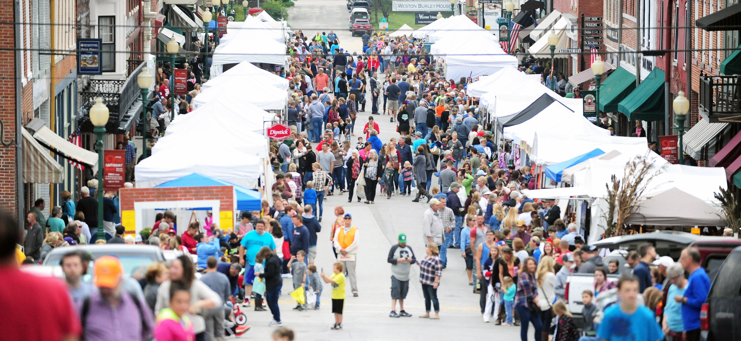 NICK INGRAM/Citizen photo People fill up Main Street in downtown Weston, Mo. following the annual Applefest parade Saturday, Oct. 1. The festival drew in an estimated 35,000 people this past weekend.