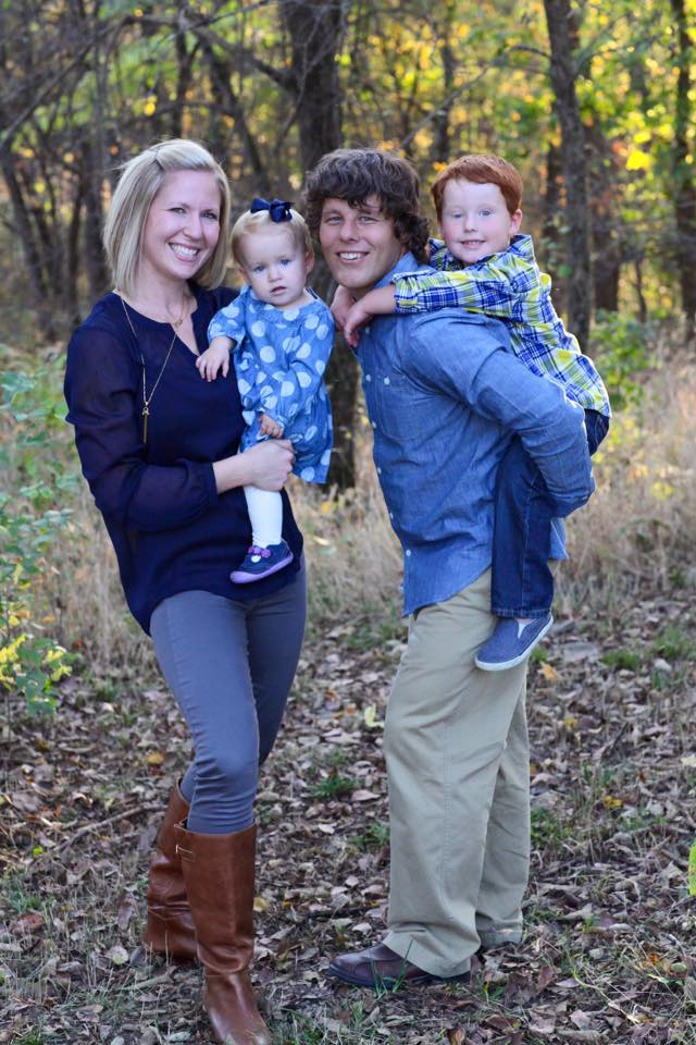The Jaros family (from left): Megan, Campbell, Todd and Landon.