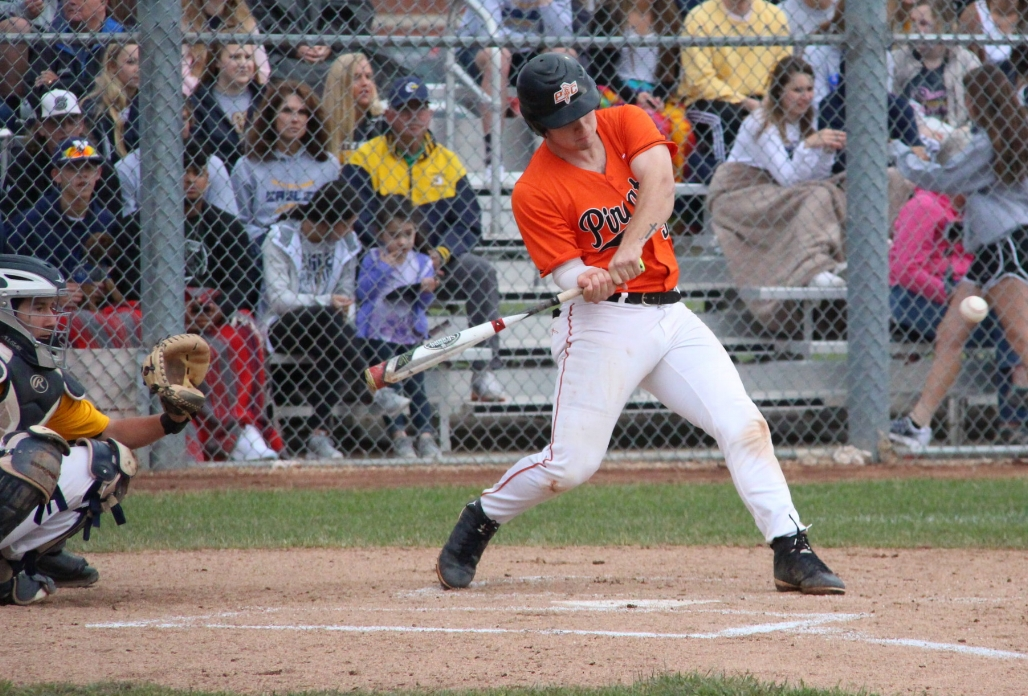 ROSS MARTIN/Citizen photo Platte County senior Justin Mitchell takes a swing against Liberty North in a Class 5 sectional matchup earlier this season in Liberty, Mo.