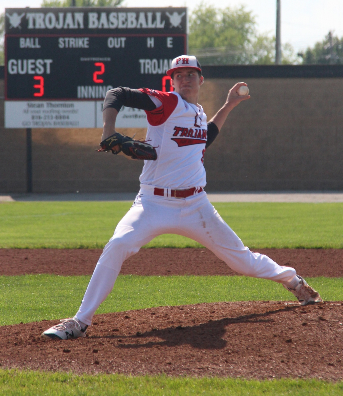 ROSS MARTIN/Citizen photo The Texas Rangers selected Park Hill graduate Aaron Ashby, seen here in a 2016 game at Park Hill High School, in the 25th round of Major League Baseball's First-Year Player Draft last week.