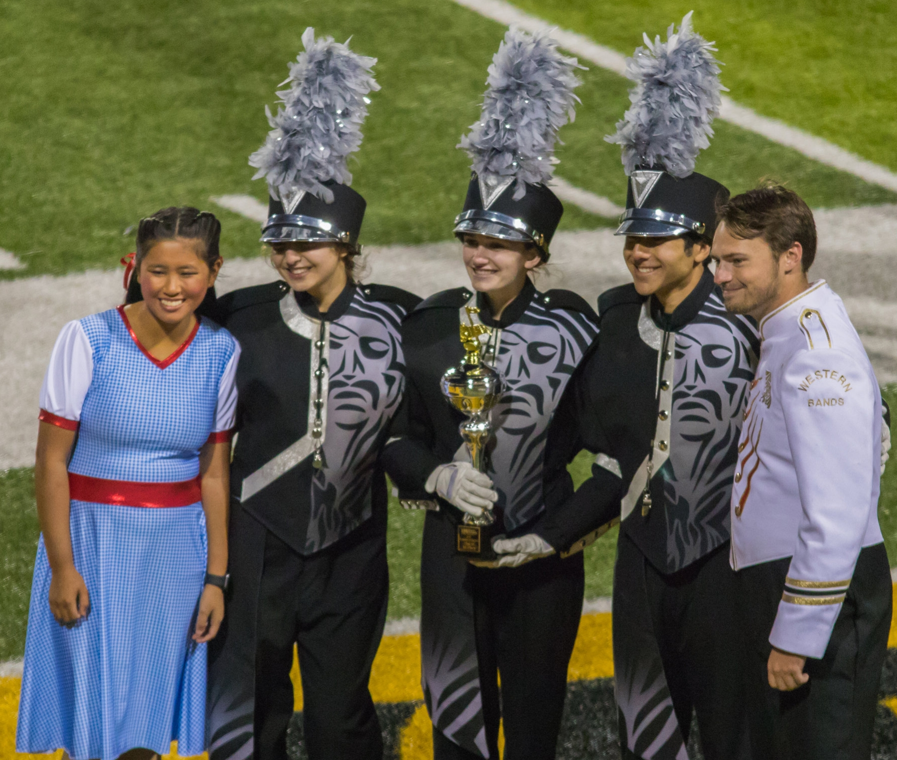 Contributed photo The Platte County Pirate Pride marching band performed its field show during the 32nd annual Missouri Western State University Tournament of Champions held at Spratt Stadium on Tuesday, Oct. 10 in St. Joseph, Mo.