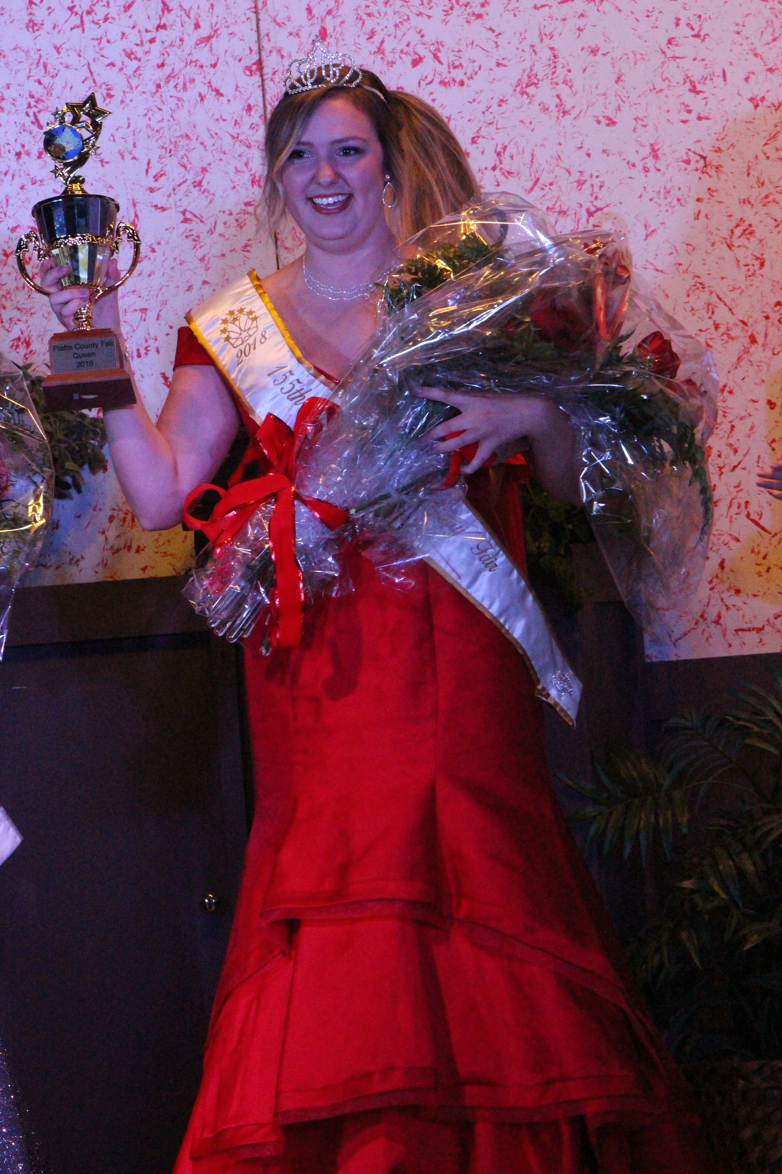 CODY THORN/Citizen photo Platte City resident Emma Testorff was crowned the 2018 Platte County Fair Queen. The Missouri Western senior will receive a $1,000 scholarship from the Missouri Western Foundation.