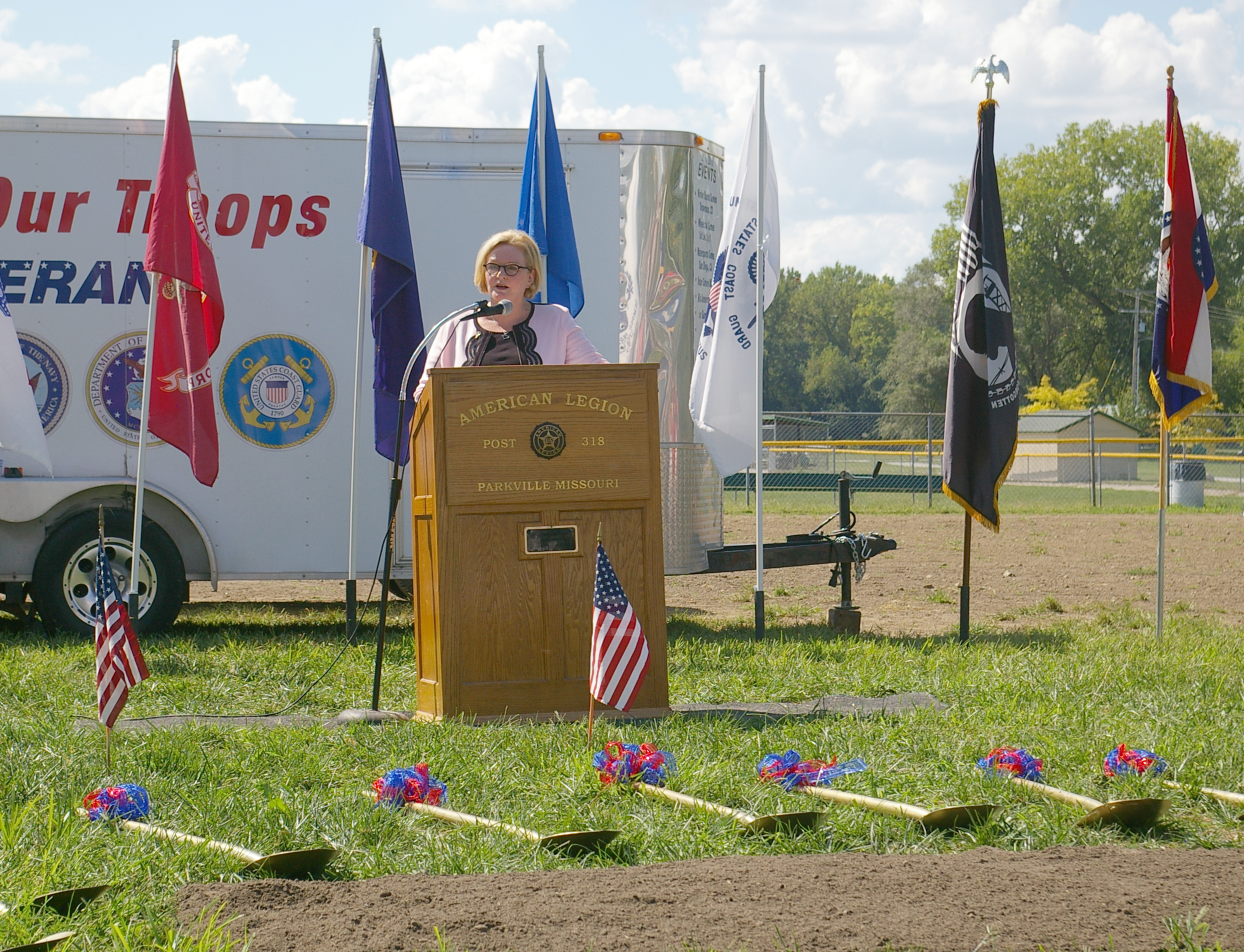 JEANETTE FAUBION/Citizen photo U.S. Sen. Claire McCaskill was one of the speakers at the groundbreaking event held last weekend in Parkville.