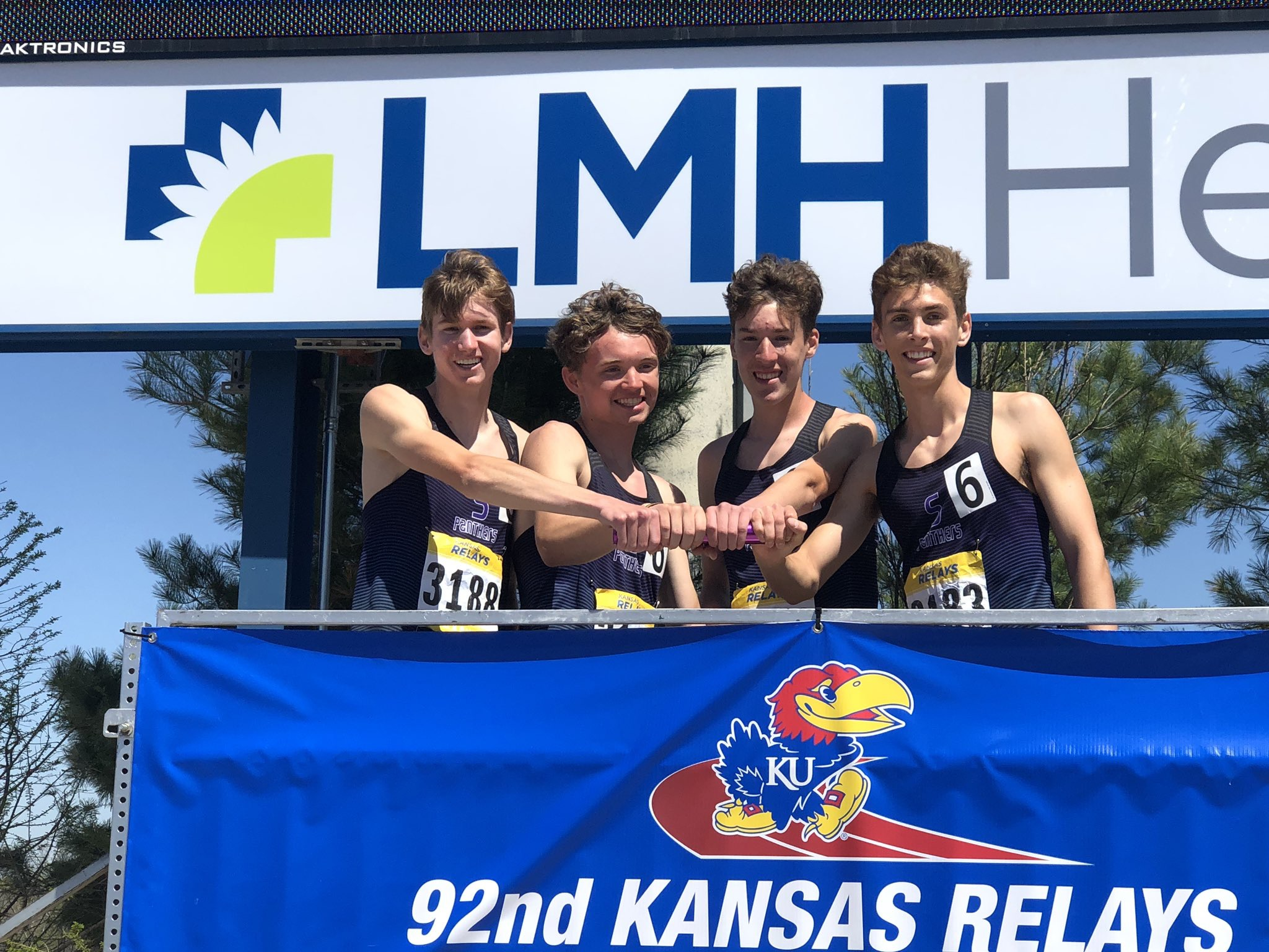 Submitted photo The Park Hill South 4x800-meter relay team won the championship at the KU Relays last weekend in Lawrence, Kan.