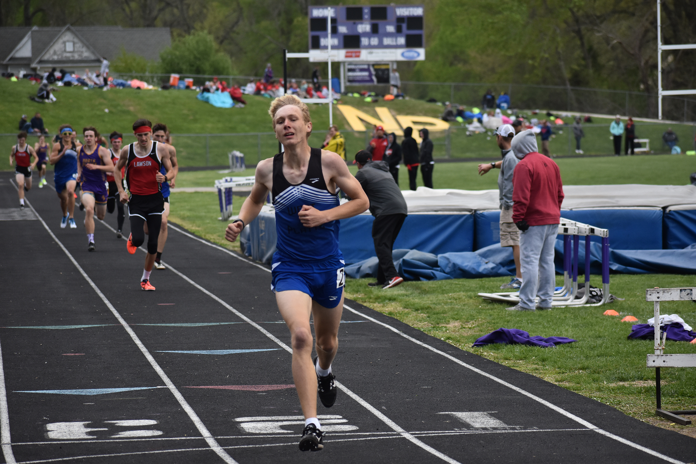 CHRIS KENDALL/Special to the Citizen West Platte's Max Davies won three events at the KCI Conference track and field meet held on Saturday, April 27 in Dearborn.