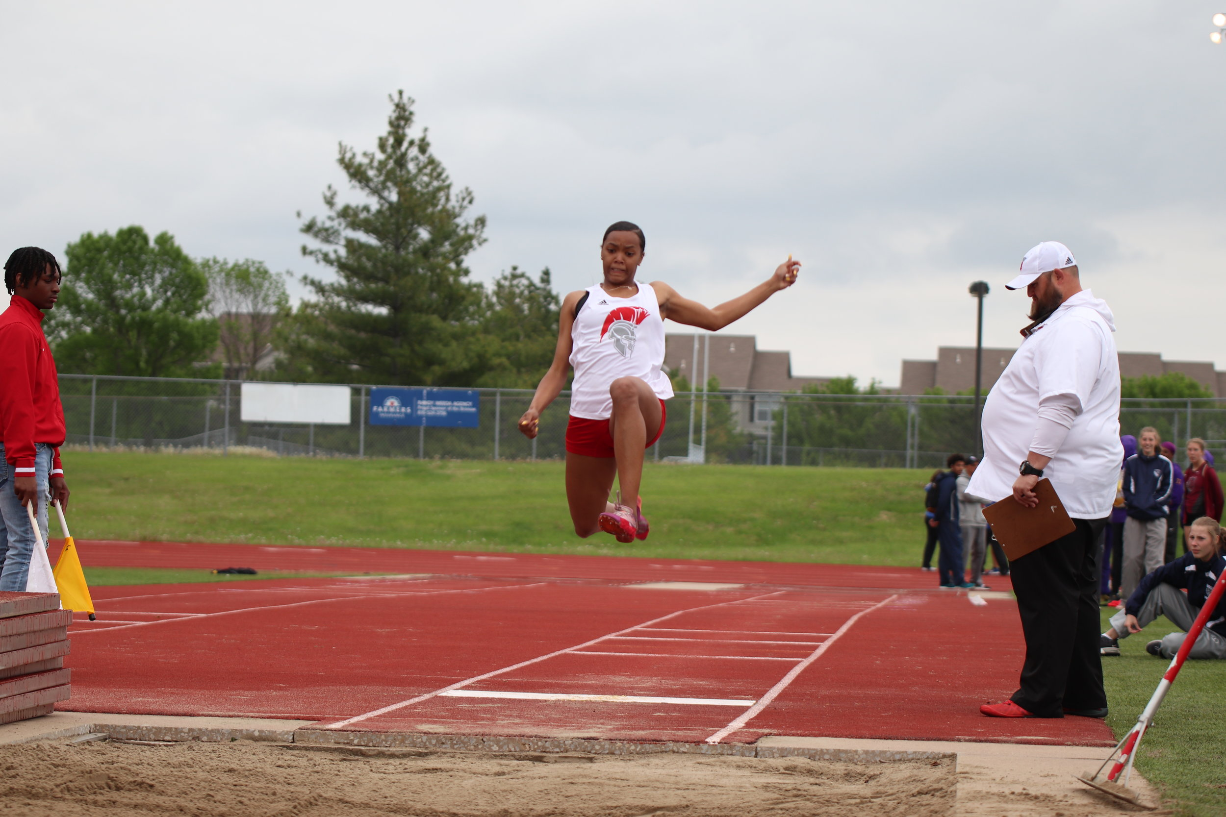 CODY THORN/Citizen photo  Park Hill's Teresa Thomas won the Suburban Conference Gold Division long jump title on Friday, May 3 at the meet held at Lee's Summit North High School.
