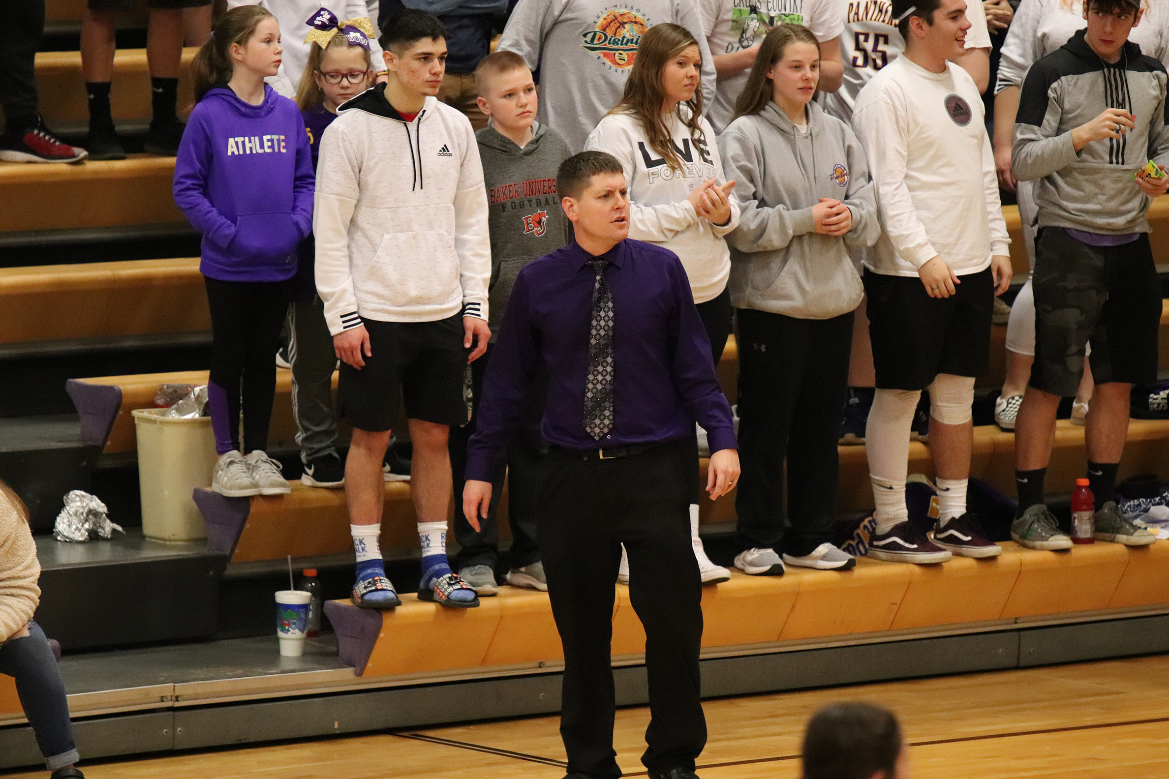 Citizen file photo North Platte girls basketball coach Ryan Davis, shown coaching during a game earlier this season, is the new assistant principal for North Platte Junior High/High School.