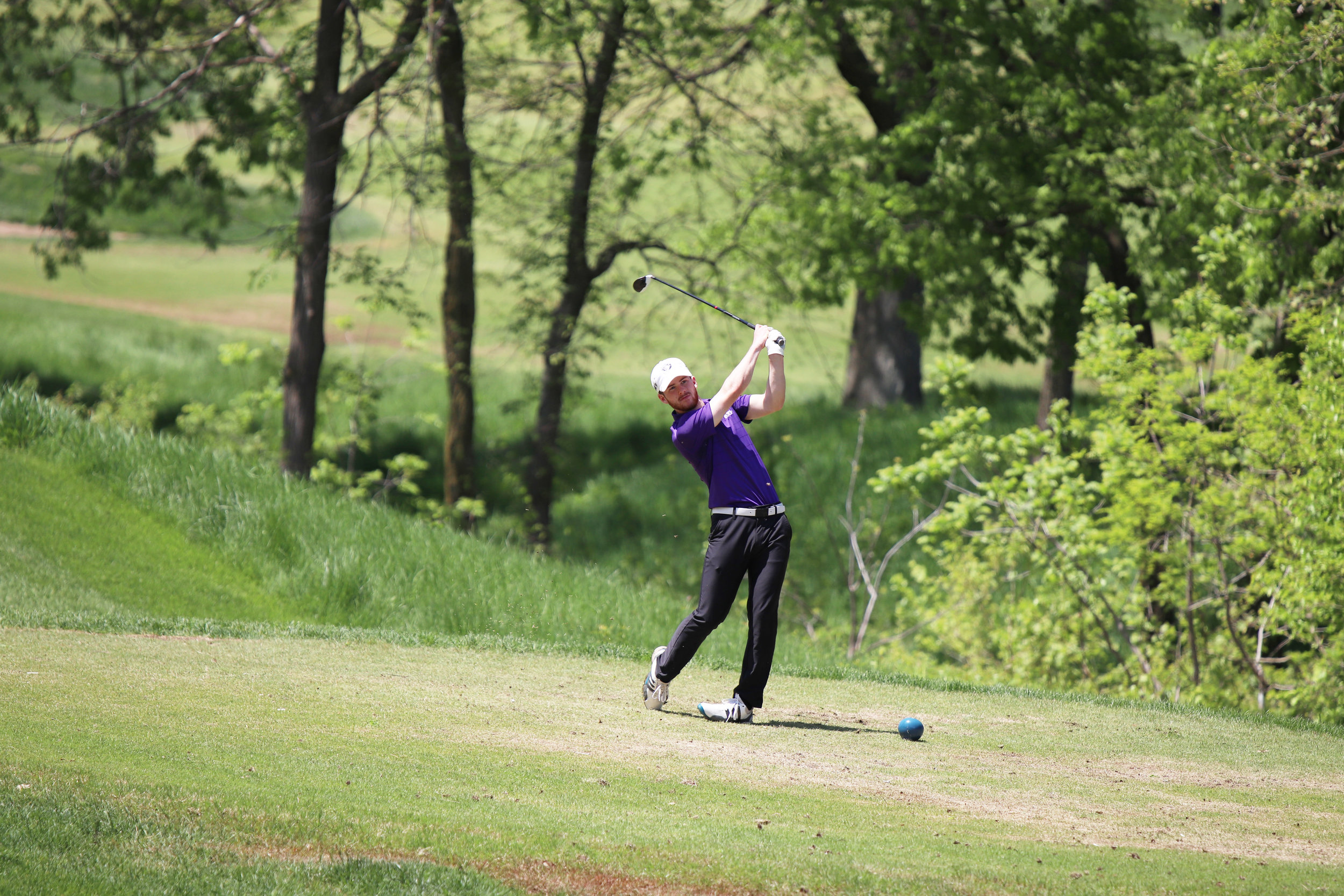 CODY THORN/Citizen photo  Park Hill South's Jay Threadgill tees off at the No. 12 hole at Tiffany Greens Golf Course during the Class 4 Sectional 4 meet held on Monday, May 6 in Kansas City.