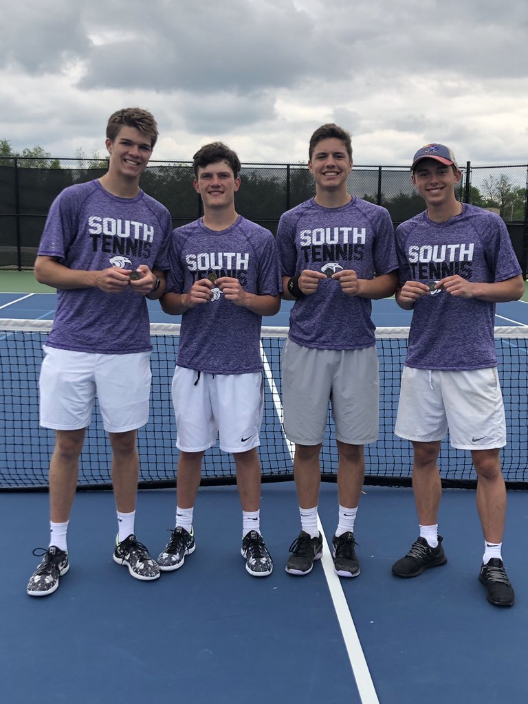 Submitted photo The Park Hill South doubles teams both advanced from the Class 2 Districts 16 tournament to sectionals.