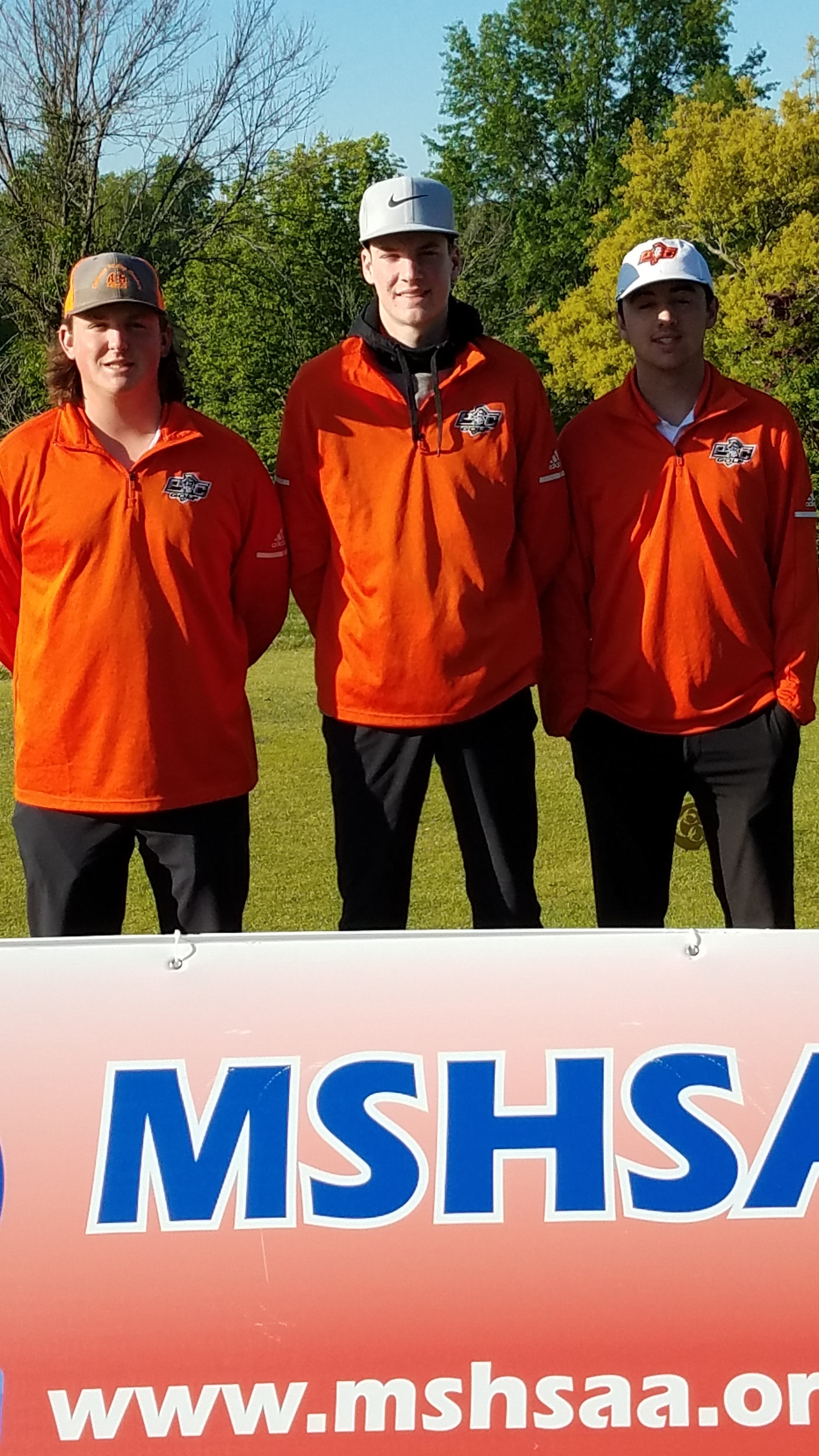 Platte County golfers Blake Minyard, Brady Wright and Logan Hessemyer competed at the Class 3 golf championships.  Submitted photo