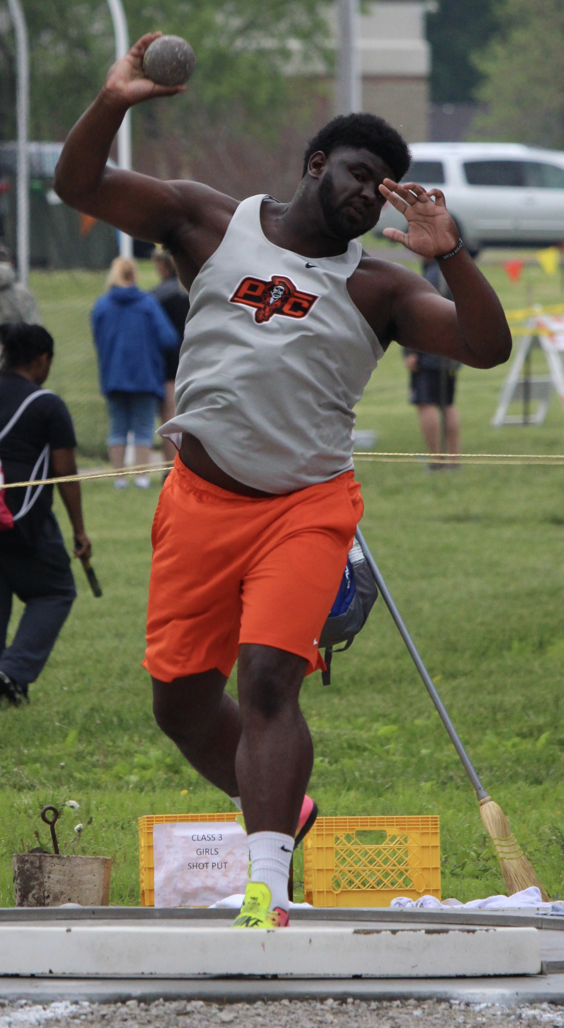 ROSS MARTIN/Special to the Citizen Platte County's Xavier Keith took third place at the sectional meet on Saturday, May 17 in Odessa.