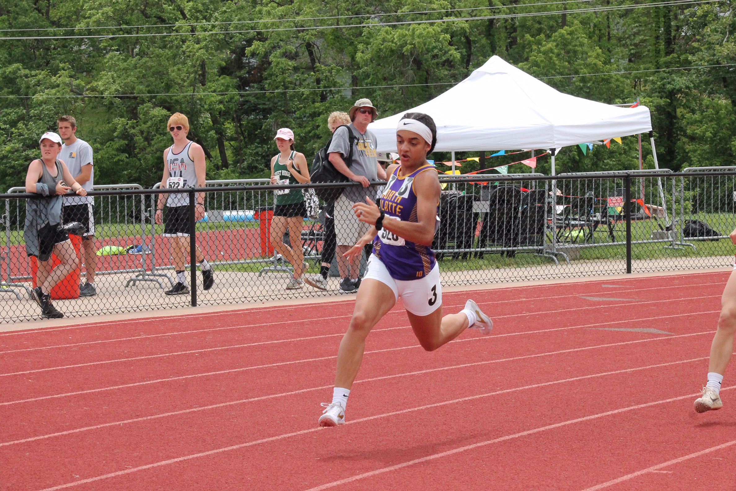 BREANNA CHEADLE/Special to the Citizen North Platte's Maddie O'Neill became only the second girl in the school history to win an individual race at the MSHSAA State Track and Field Championships when she won the 400-meter dash on Saturday, May 18.