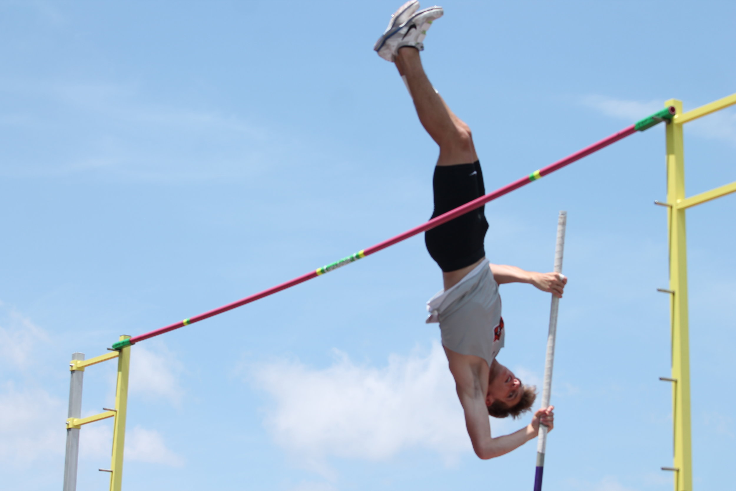 BREANNA CHEADLE/Special to the Citizen  Platte County's Jacob Laures jumped a school record 15 feet, 6 inches in the pole vault on Saturday, May 25 at the Class 4 State Track and Field Championships held at Washington High School in Washington, Mo.