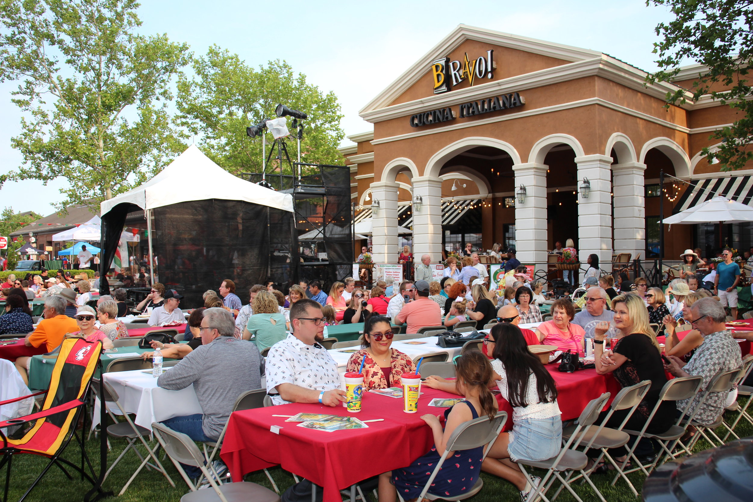 JEANETTE FAUBION/Citizen photo  The annual Festa Italiana was held May 31 through June 2 at Zona Rosa Town Center, presented by the Kansas City chapter of UNICO, the largest Italian-American service organization in the country. The event featured live music and other entertainment, Italian food, vendors and activities for kids. Featured events included wine tastings, Catholic mass and meatball and cannoli eating contests.