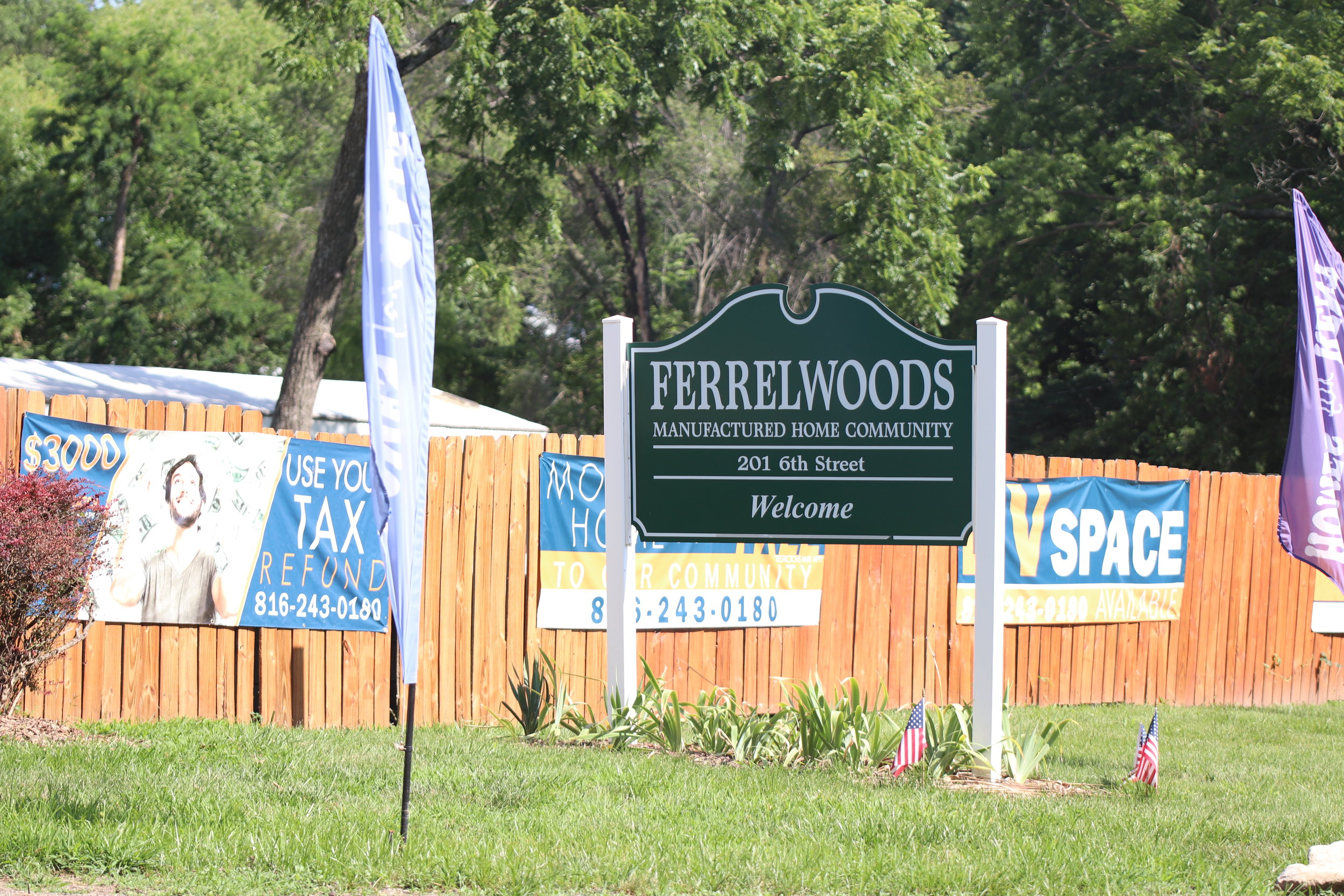CODY THORN/Citizen photo  Ferrelwood Mobile Home Park in Ferrelview has filed a lawsuit against the Village of Ferrelview and board of trustees chairman Phil Gilliam.