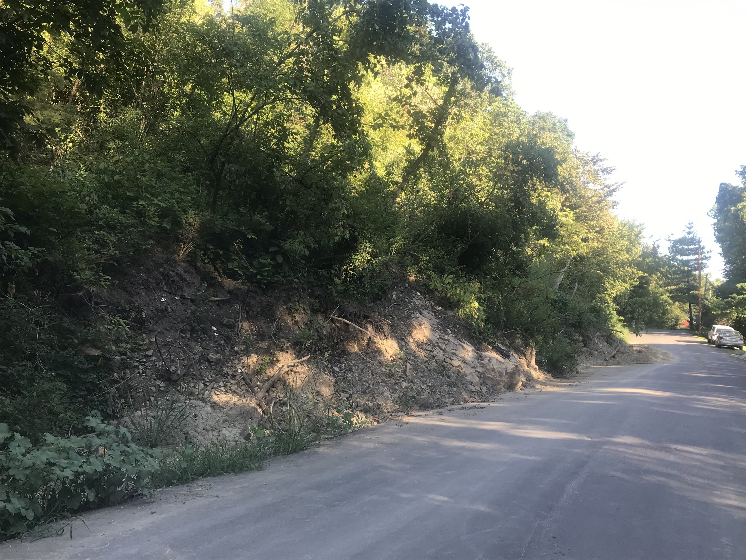 CODY THORN/Citizen photo River Road in Waldron is still partially covered from a mudslide that occurred in May.