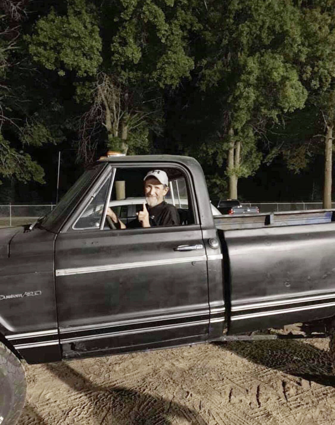 Contributed photo Charley Jameson, who lives in rural Dearborn, is all smiles after taking part in a truck pull at the Platte County Fairgrounds on Friday, Aug. 9 in Tracy.