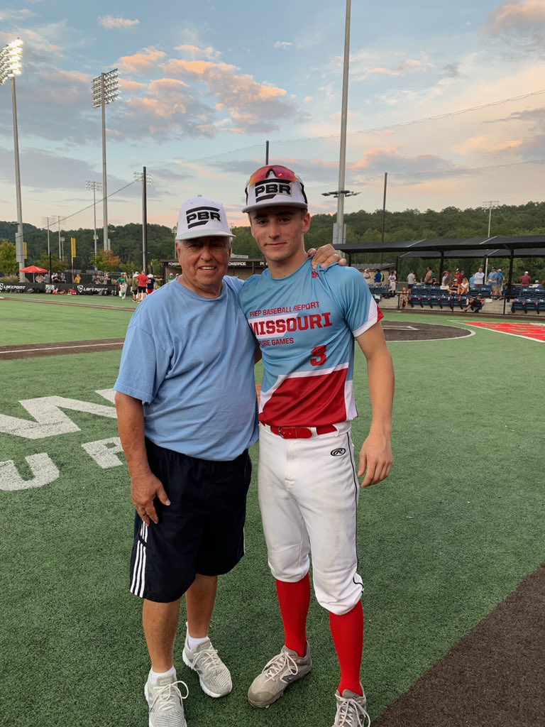 Park Hill South's Dylan Hufft, right, took part in the PBR Futures Game in Atlanta recently.