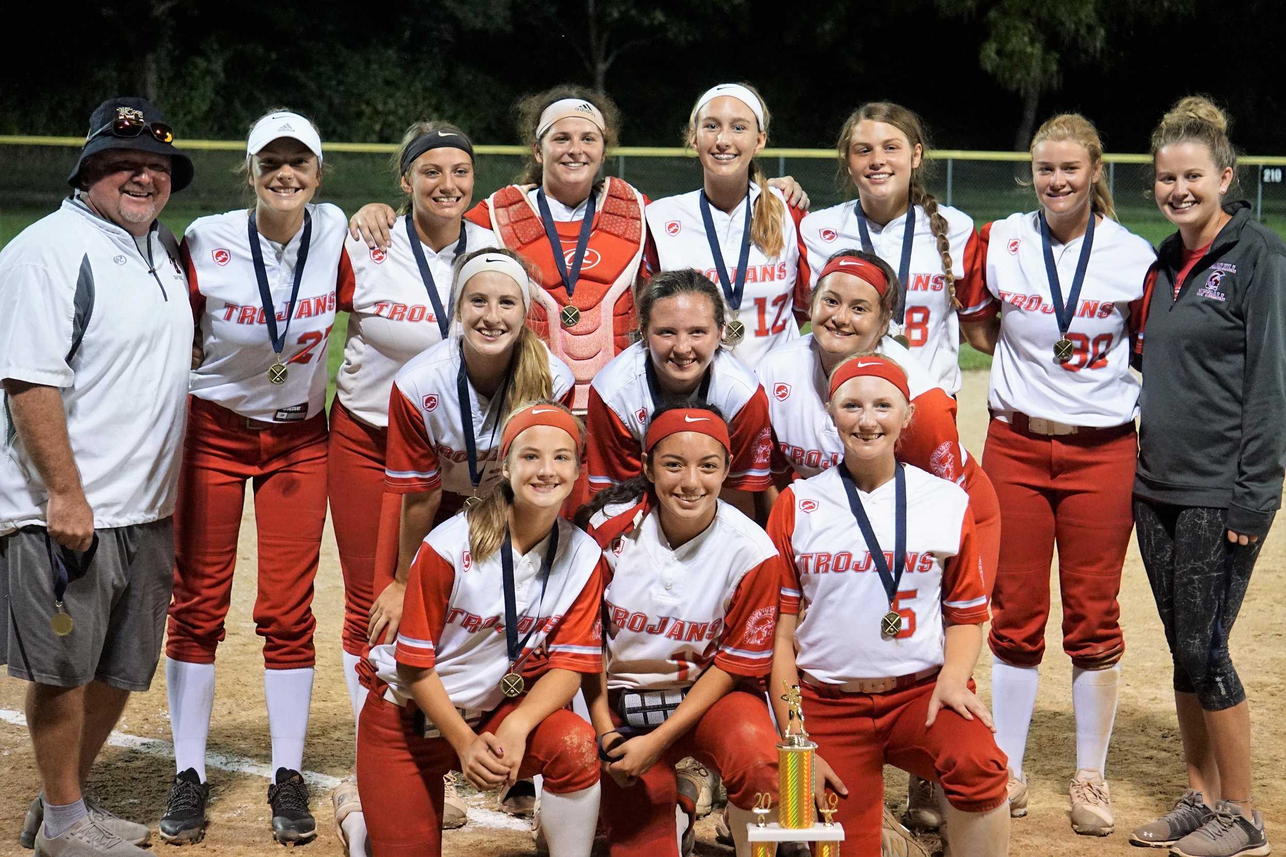 Contributed photo The Park Hill softball team took first place at the Greater Kansas City Softball Invitational, ending with a 5-2 win against Ray-Pec in the championship game on Saturday, Aug. 31 in Independence.