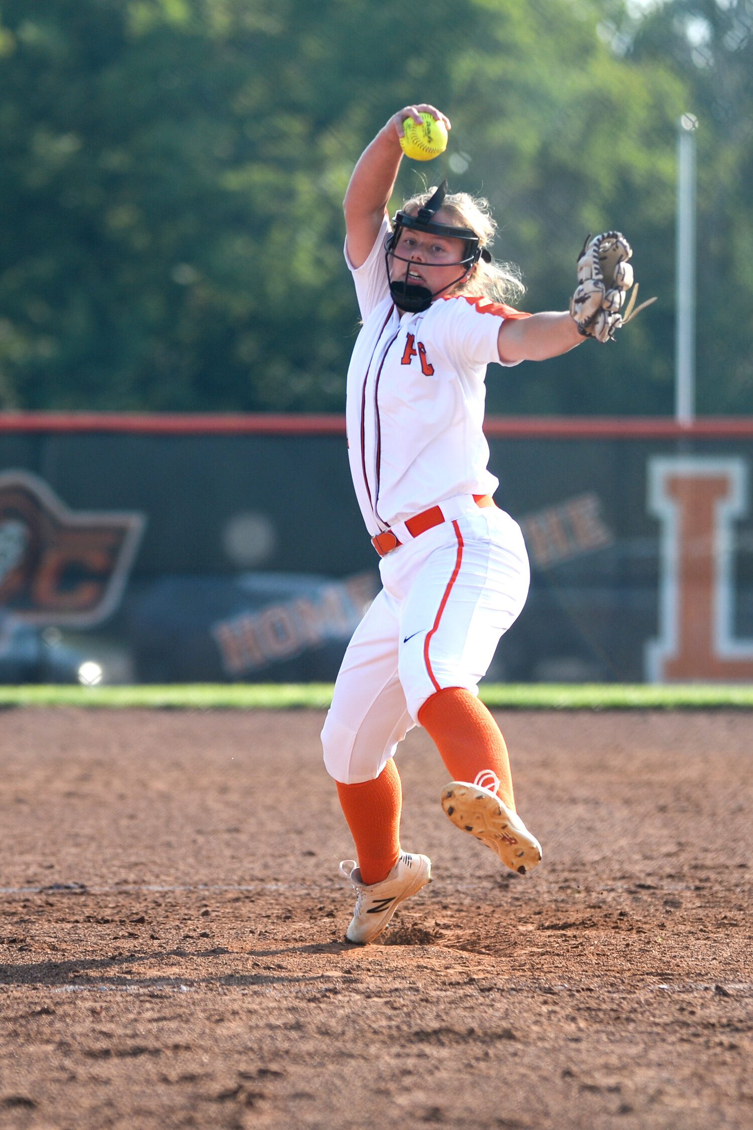 TODD NUGENT PHOTOGRAPHY/Special to the Citizen  Platte County pitcher Emma Koeneke delivers a pitch home against Excelsior Springs during a game on Thursday, Sept. 5 in Platte City.