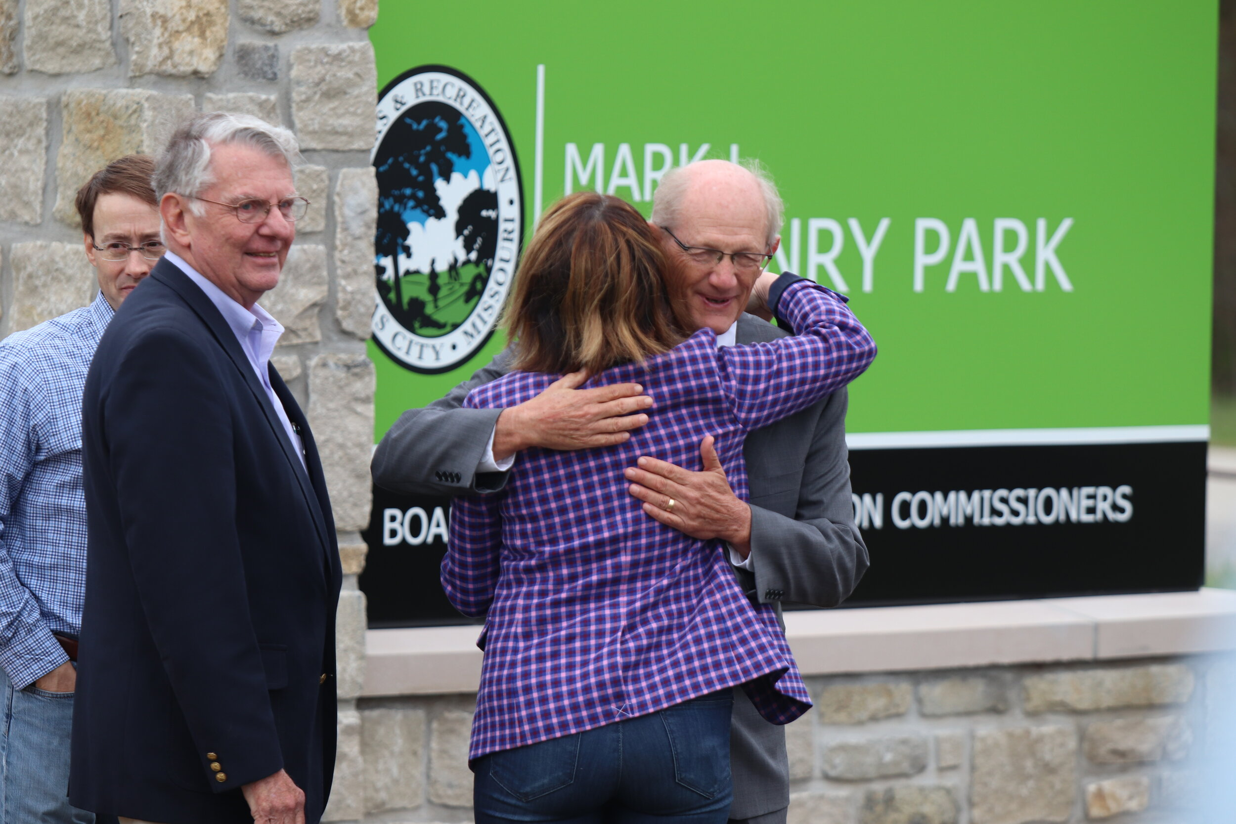CODY THORN/Citizen photo Former Kansas City Parks and Recreation director Mark McHenry during a ceremony on Friday, Oct. 4 in Platte County.