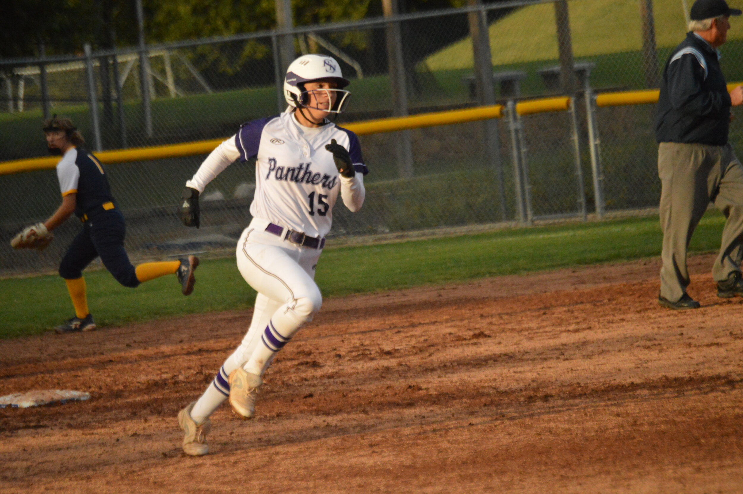 WILL WRIGHT/Park Hill South High School  Park Hill South's Hadley Uribe runs the bases during the a game against Liberty North on Thursday, Oct. 3 at Park Hill South in Riverside. Liberty North won 9-4.