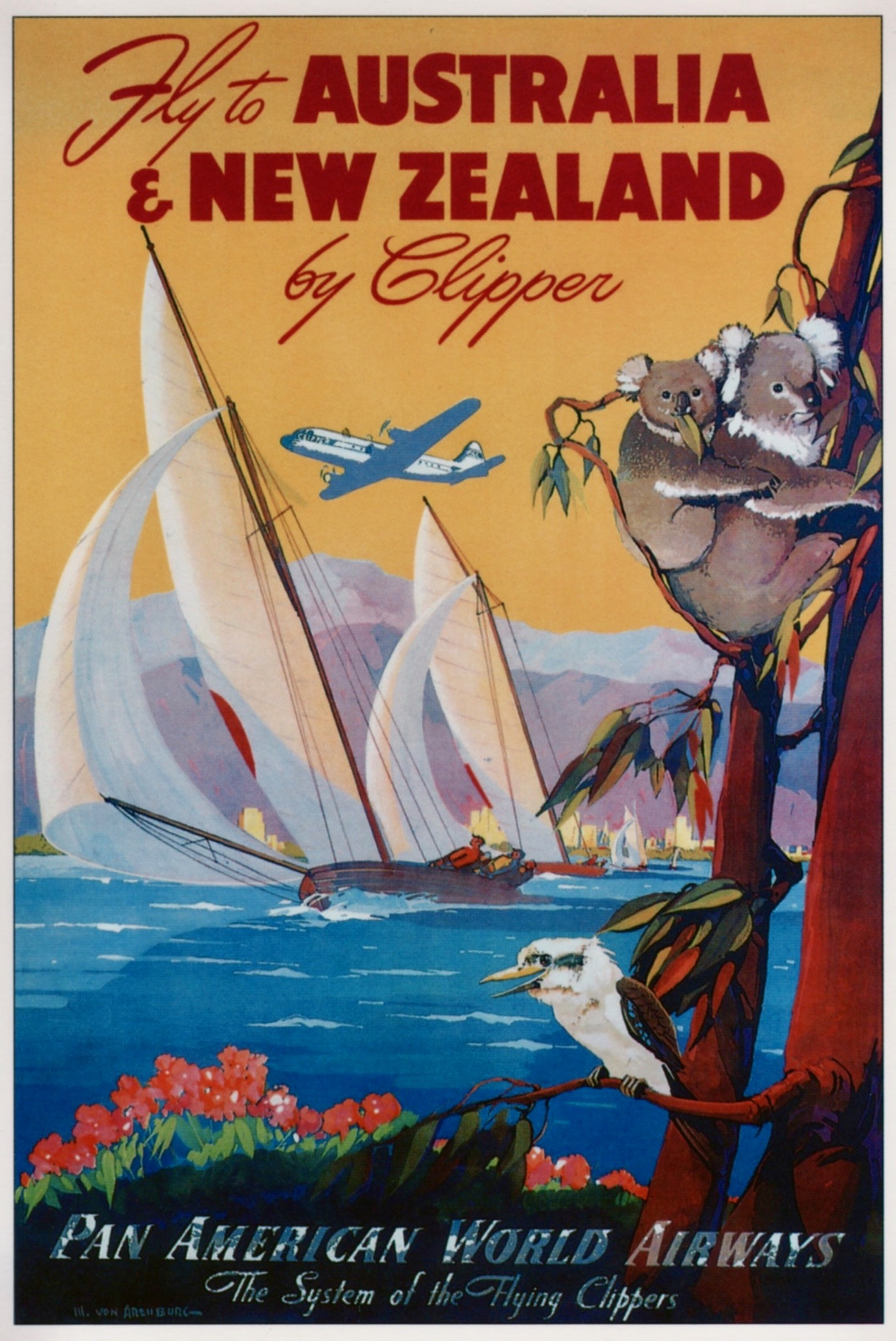 New Zealand Australia Postcard