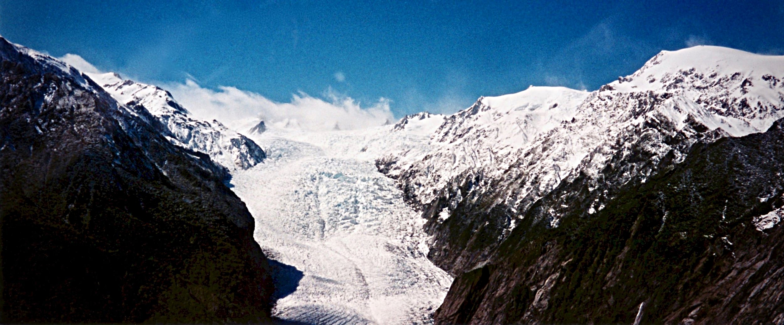 Fox Glacier from the helicopter, New Zealand