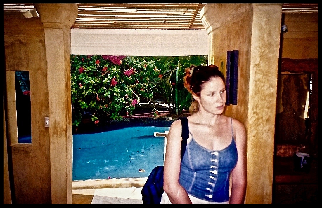 Lula in front of the pool Ian later electrocuted himself to death in.