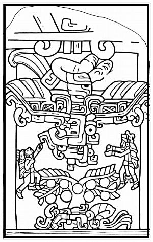 quetzalcoatl - mayan glyph