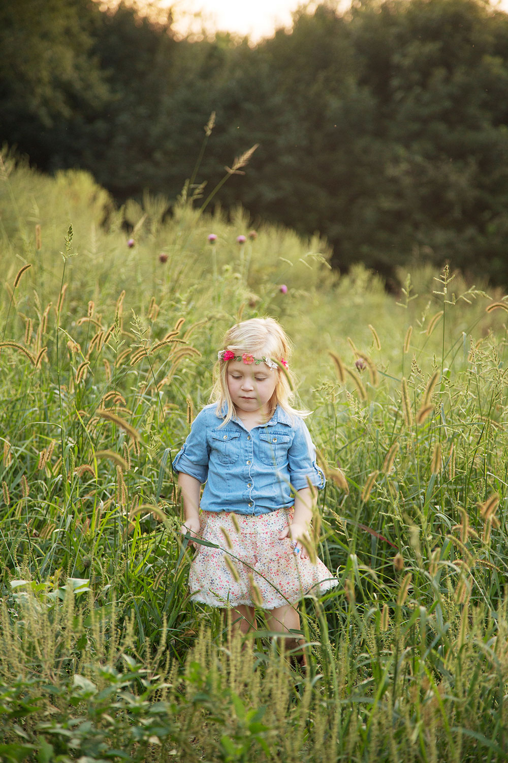 little girl in a field lifestyle portraits hillary frost.jpg