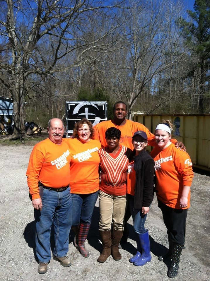 Our team with our homeowner
