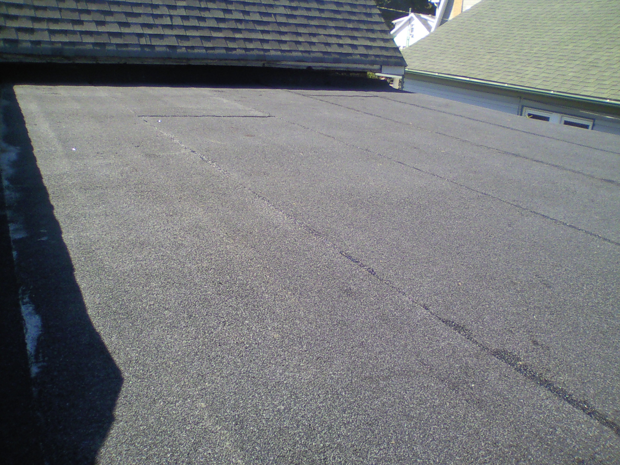 This picture shows the new roof covering.