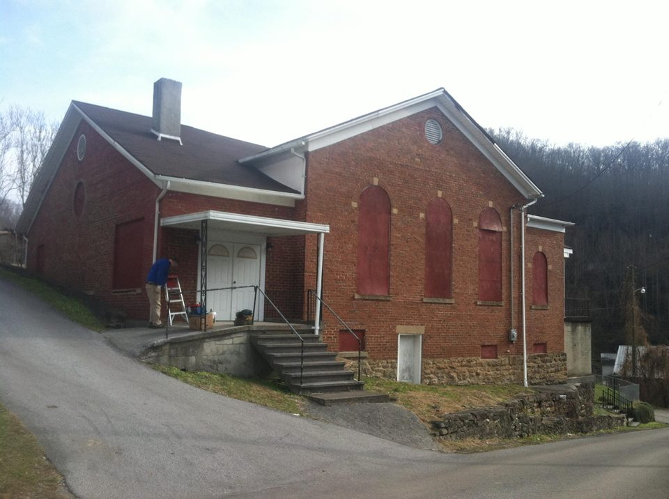 The old Methodist Church on the hill