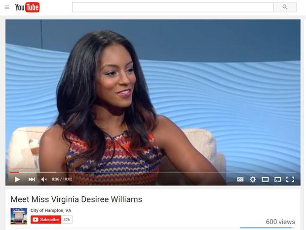 City of Hampton, VA   Meet Miss Virginia, Desirée Williams