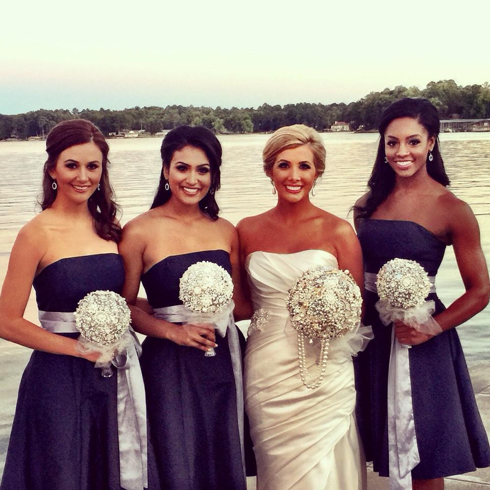 Pictured with Nina Davuluri (Miss America 2014, Speaker and Advocate), Brittany Smith (Miss Illinois 2013 and PA-C Physician's Assistant) as bridesmaids in Amy Crain-Gober's (Miss Arkansas 2013) wedding.