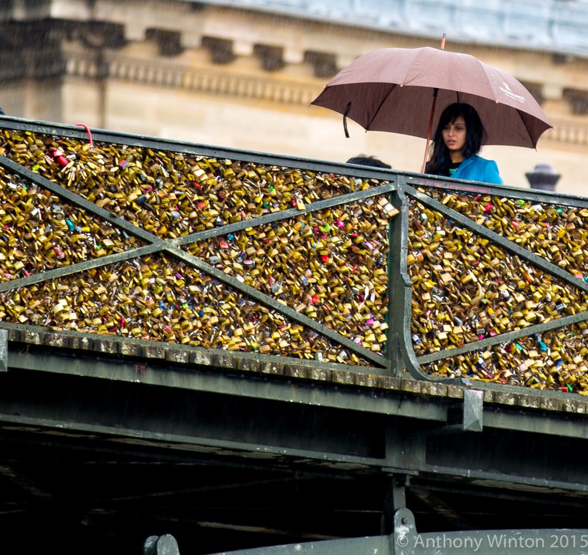Woman On Bridge, Paris