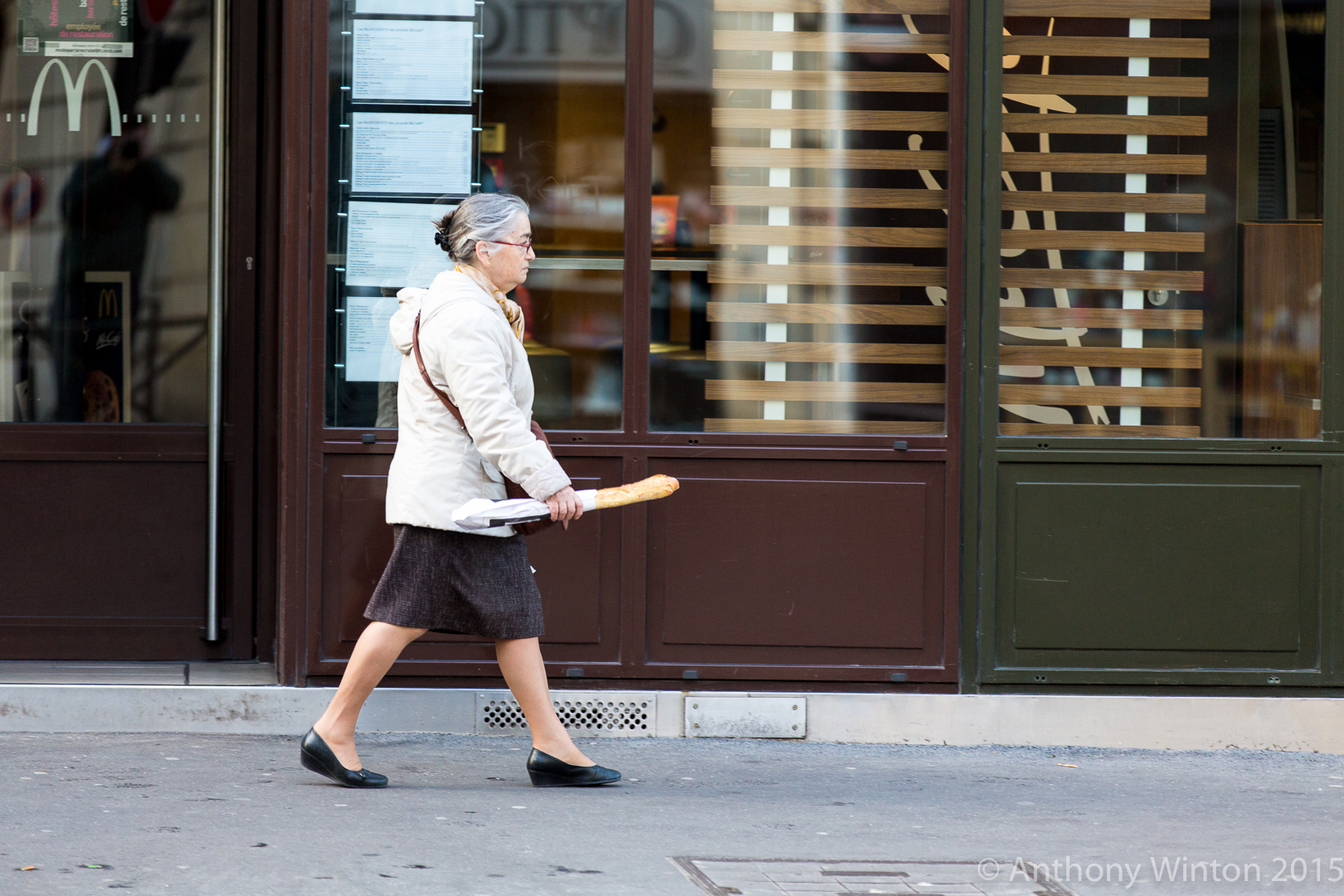 Woman with French Bread, Paris