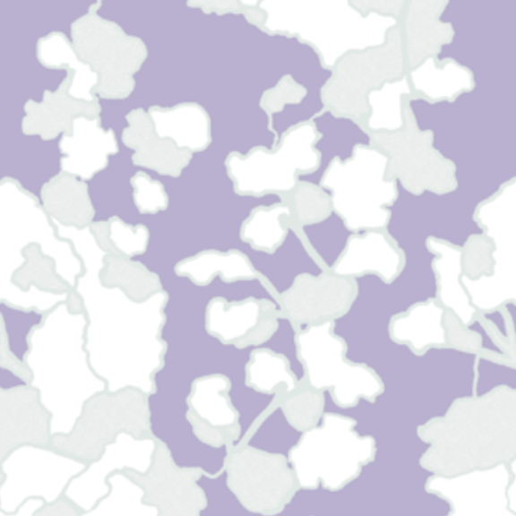 Floral Lines-Lilac and Cloud