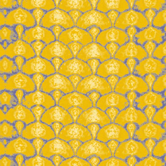 Shibori Fans-Mustard