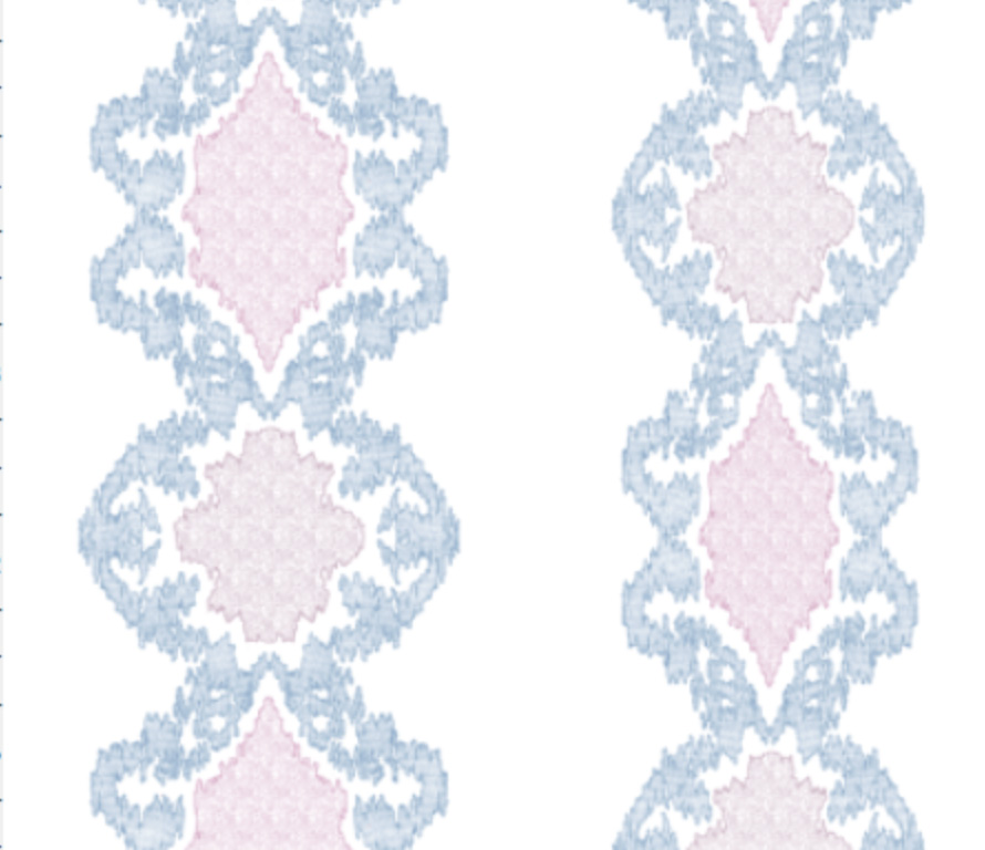 Ikat Medallions Smaller- Blue Wisteria