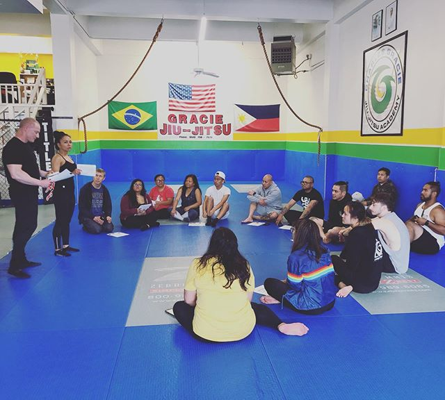 """Thank you @charity_clint_vandyke for an informative Nutrition Seminar today (and that healthy """"chicken adobo"""" to end with )! #teamvandyke #charlesgraciejiujitsu #nutrition #absbuiltinthekitchen"""
