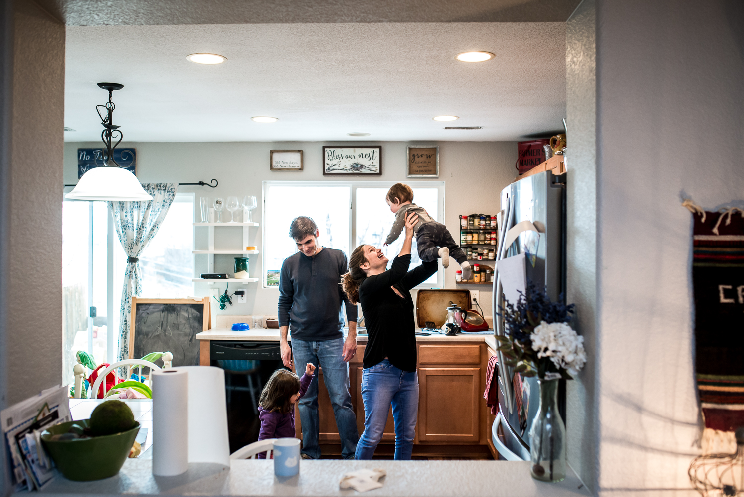 family time in the kitchen