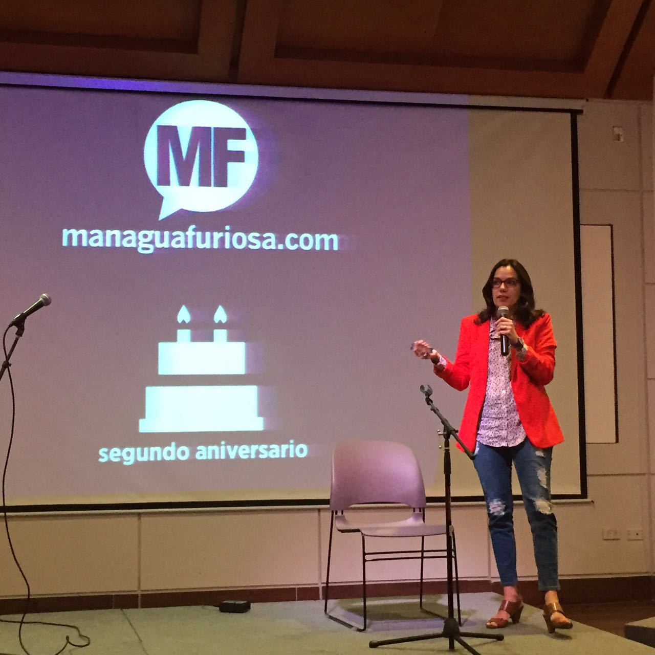En el aniversario de Managua Furiosa, durante la charla de Emprendimiento y Creatividad.