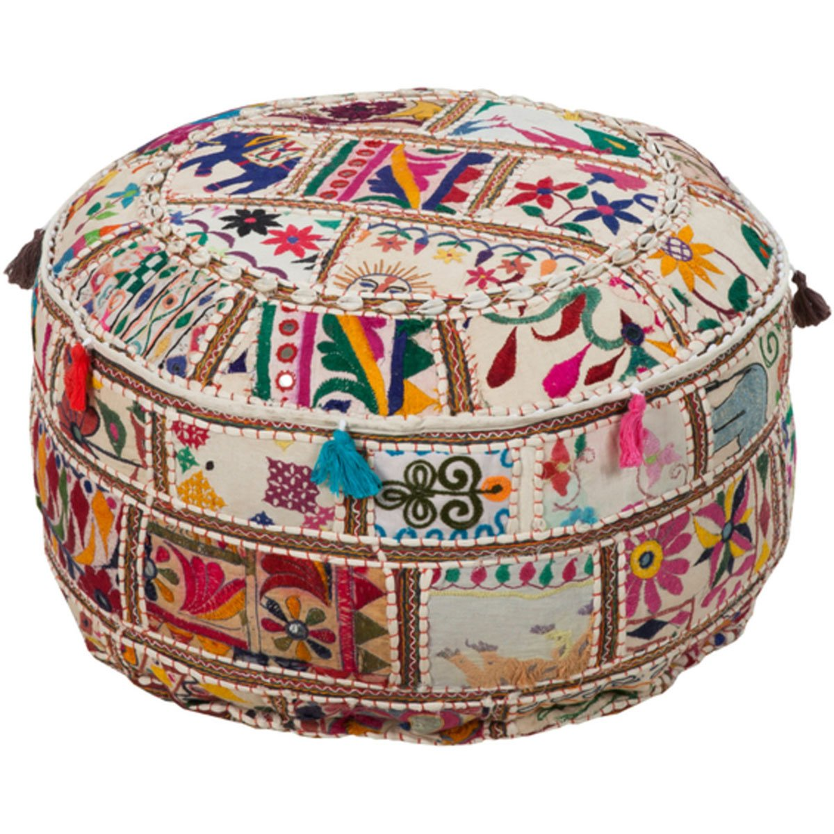 Pondicherry Tassel Pouf