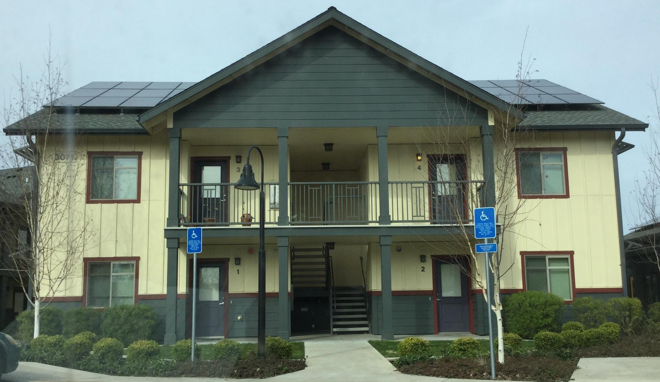 Four-unit apartment building