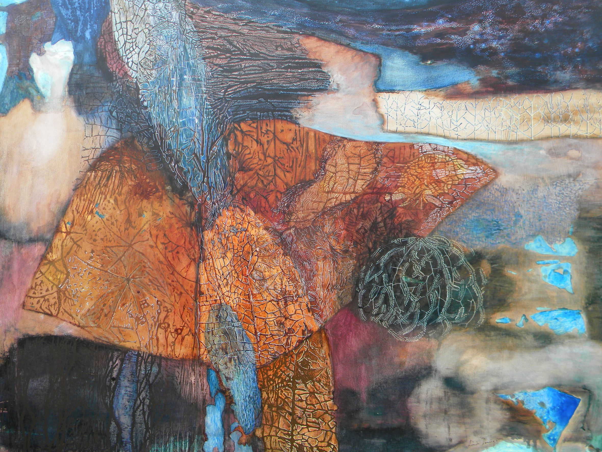 Quail , Linda Dening, mixed media