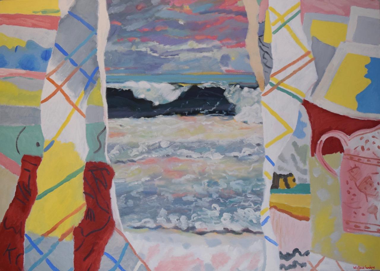 South coast holiday , oil paint on canvas, 1990