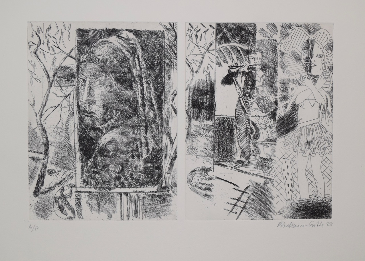 Untitled , etching, ink on paper, 1988