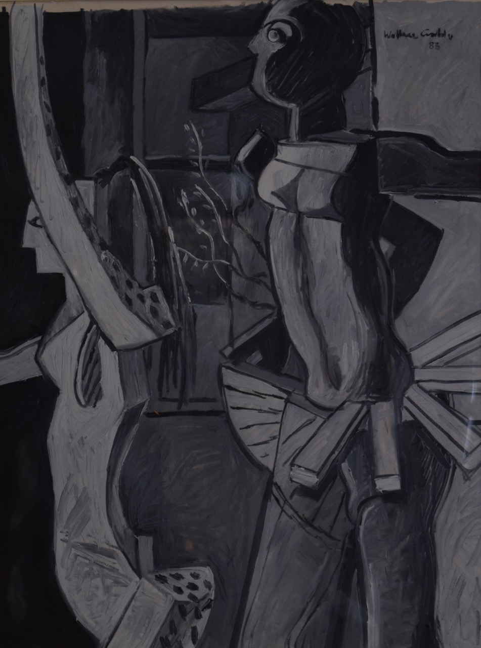 Untitled , oil paint on paper, 1983